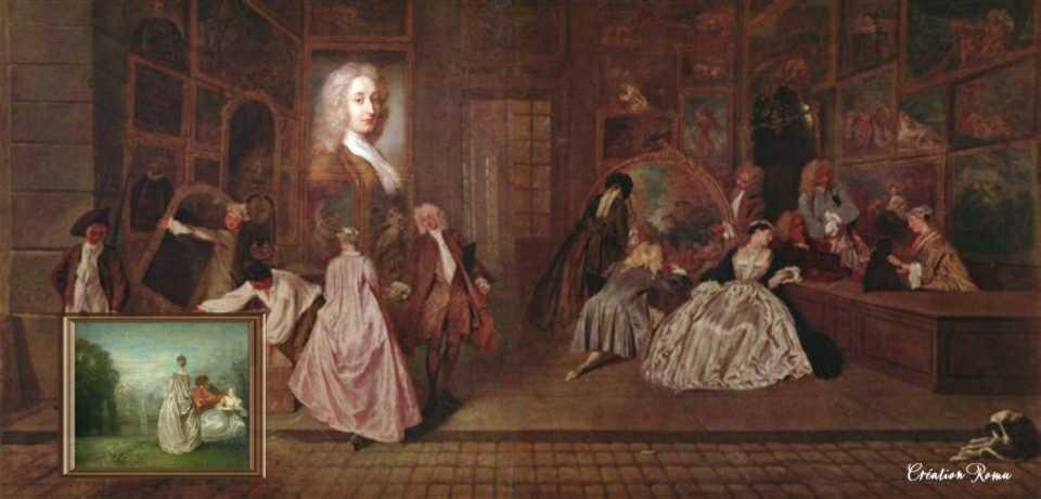 2 Peintures J.A. Watteau