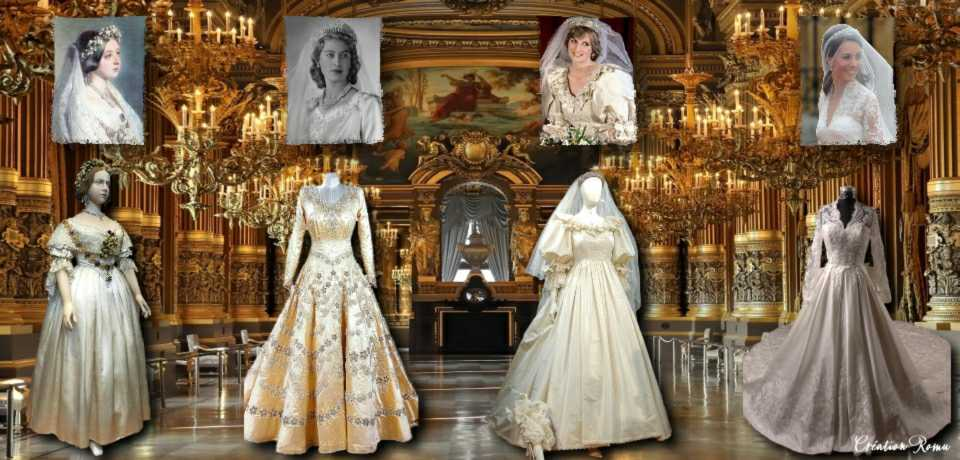 2 robes mariée royauté UK
