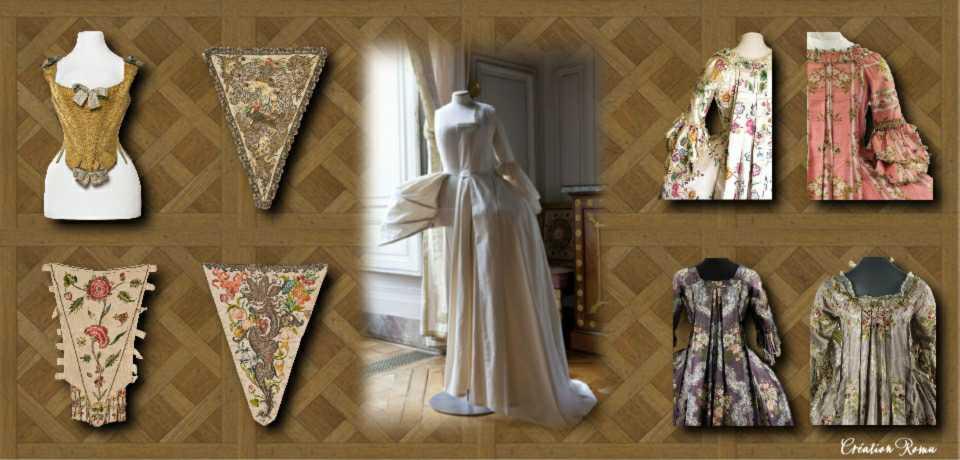 4 Détails corsage-plis Watteau