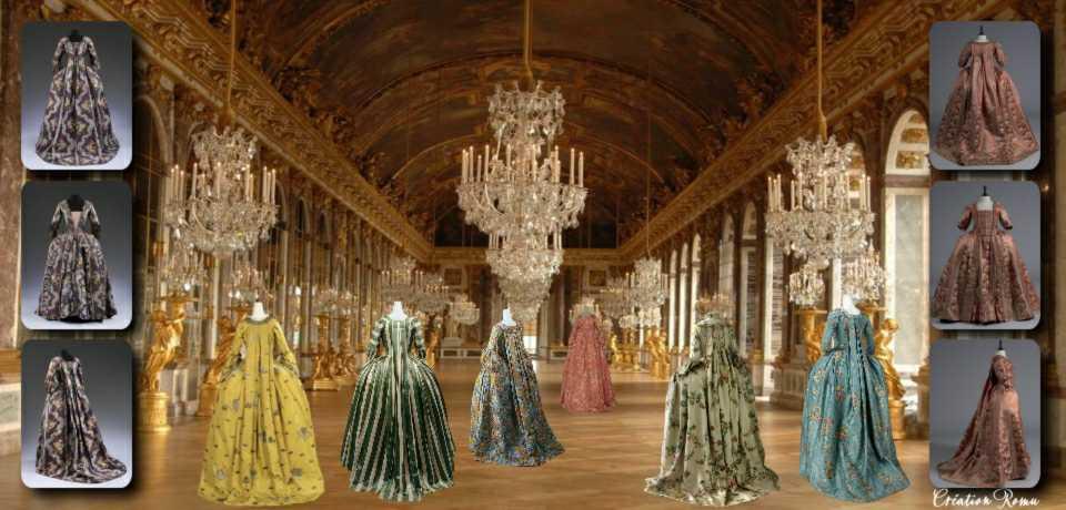 5 Robes à la francaise_1740-1774